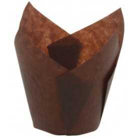 #GLT-4000 Chese tulip rotunde, maro, M160-50, pentru briose