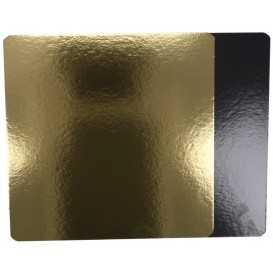 3800 Plansete din carton, aur + negru, 280 x 280 mm