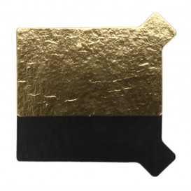 3750 Monoportii aur + negru din carton cu limba, 95 x 55 mm