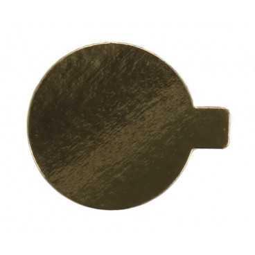 3750 Momoportii aurii din carton cu limba, Ø 80 mm