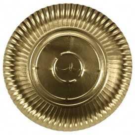 A07 033 Farfurii aurii din carton R2, Ø 263 mm