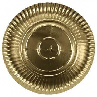 0900 Farfurii aurii din carton R2, Ø 263 mm