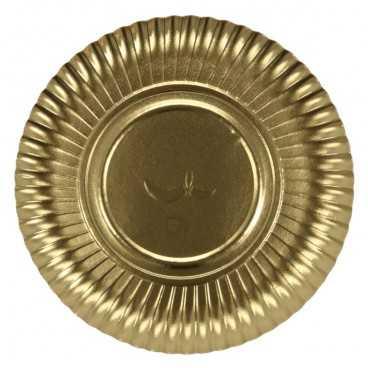 A07 032 Farfurii aurii din carton R1, Ø 233 mm