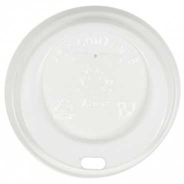 0200-CRTZ Capace din PS, Ø 70 mm, cu orificiu pentru bauturi calde, albe