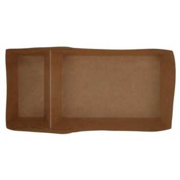 1000 Tavite din carton, kraft natur, 440cc, 180 x 85 mm, 2 compartimente