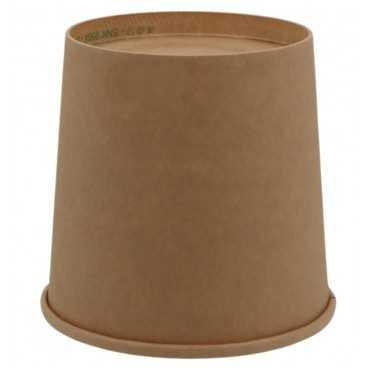 1300-04CS Boluri din carton, kraft natur, Ø 115 mm, 24oz