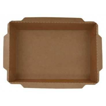 1400CS Meniuri din carton cu capac separat, kraft natur, 1200cc, 198 x 138 mm