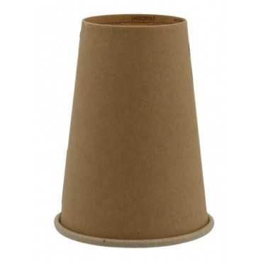 Pahare din carton cu perete simplu, Ø 70 mm,   7oz, kraft natur