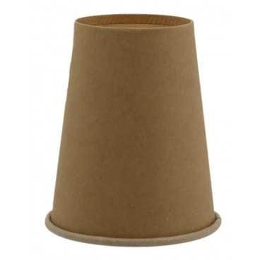 Pahare din carton cu perete simplu, Ø 80 mm,   8oz, kraft natur