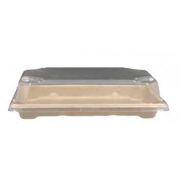#CTR-SSH-1400 Caserole BIO NAT + capac PS, SUSHI, 185 x 130 x 21 mm