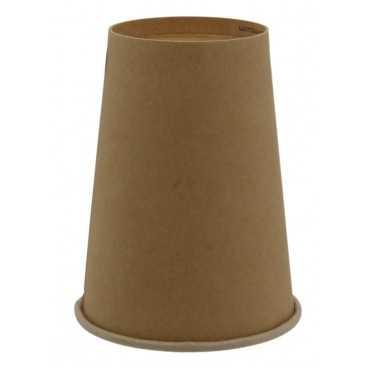 Pahare din carton cu perete simplu, Ø 90 mm, 12oz, kraft natur