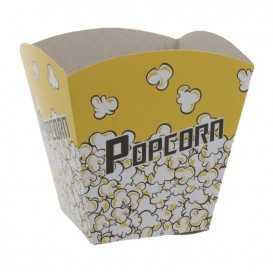 1400 Cutii din carton, POPCORN, glb + ngr, 125 x 125 x 125 mm