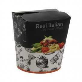 #CTR-VGNR-1400 Cutii din carton pentru noodles, pasta negre, 500cc