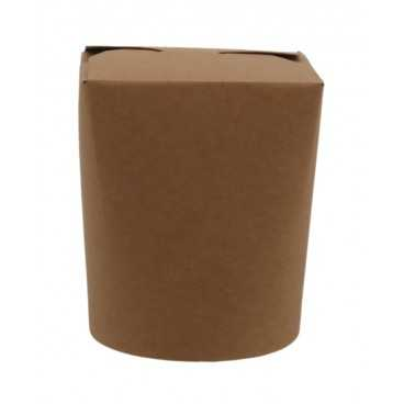 Cutii din carton pentru noodles, 450cc, kraft natur