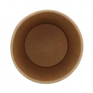 0200-CRTP1 Pahare din carton cu perete simplu, kraft natur, Ø 90 mm, 10oz