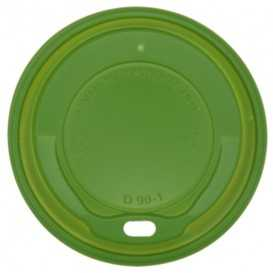 #COF-0200CRT-Z01 Capac pentru pahar carton bauturi calde, verde, Ø 90