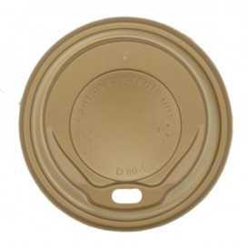 #COF-0200CRT-Z01 Capace din PS, gold cu orificiu pentru bauturi calde, Ø 80 mm