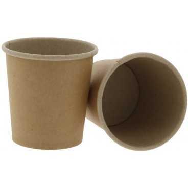 Pahare din carton cu perete simplu, Ø 62 mm,   4oz, kraft natur