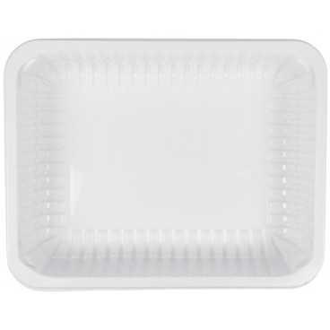 1400TS Caserole din polipropilena termosudabile, albe, 227 x 178 x 50 mm