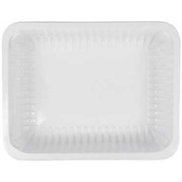 1400TS Caserole din polipropilena termosudabile, albe, 227 x 178 x 60 mm