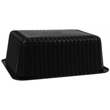 1400TS Caserole din polipropilena termosudabile, negre, 227 x 178 x 80 mm
