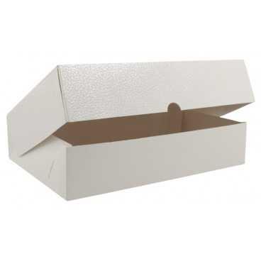3700CA Cutie din carton cu capac atasat, 270 x 180 x 60 mm, piele alba