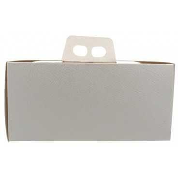 3600CMD Cutie din carton cu maner pentru tort, 250 x 250 x 120 mm, piele alba
