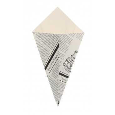1500 Corneturi din carton, hexagon, 100gr, ziar