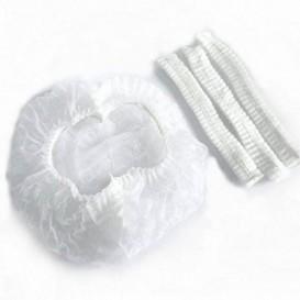 #TIGN-5600 Bonete unica folosinta din polipropilena netesuta, albe cu margine elestica