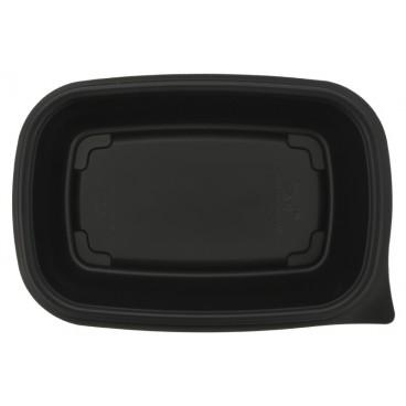 1400 Caserole din PP, negre, drept., 200 x 130 x 40 mm, 1C, 500 cc