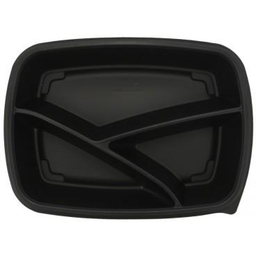 1420 Caserole din PP, negre, drept., 230 x 170 x 50 mm, 3C, 900 cc