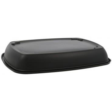 1420 Caserole din PP, negre, drept., 280 x 200 x 40 mm, 1C, 1350 cc