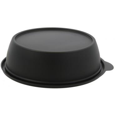 1320 Boluri negre din PP, capac separat, Ø 190 mm, 1000 cc