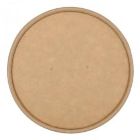 #CTR-CRTKN-1300-D098-C Capace din carton, cu orificiu pentru aerisire, kraft natur, Ø 98 mm
