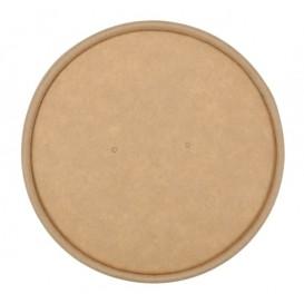 #CTR-CRTKN-1300-D090-C Capace din carton, cu orificiu pentru aerisire, kraft natur, Ø 90 mm