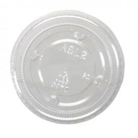 #PZA-1200-C Capace din polietilena, transparente, plate, fara gaura, Ø 62 mm